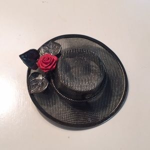 3/$13 Just Bundle hat pin with flower detailing
